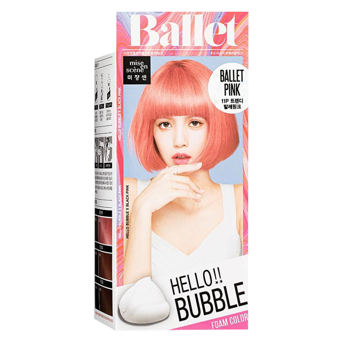 Mise En Scene Hello Bubble Hair Foam Color-Ballet Pink 11P