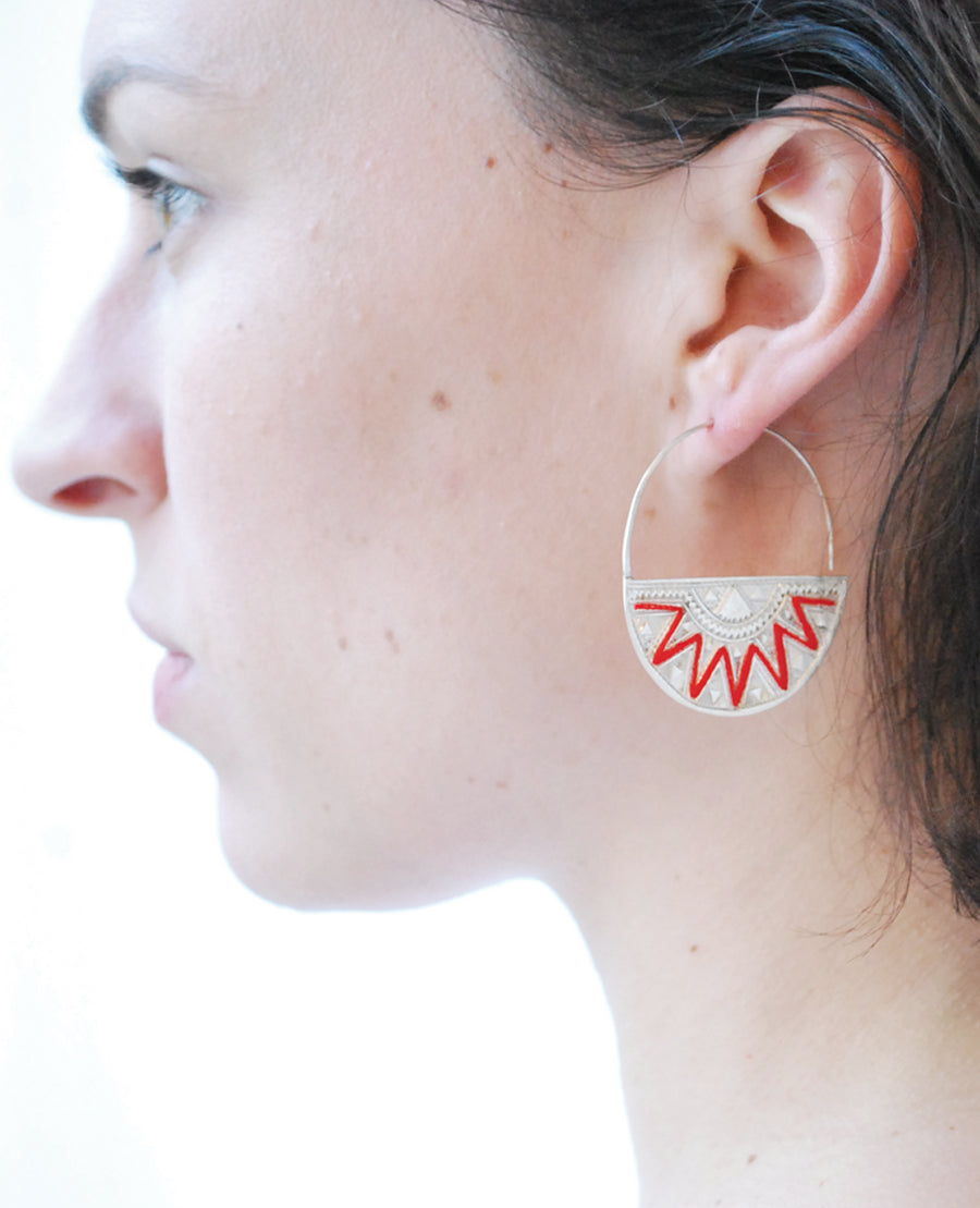 Embroidered hoops