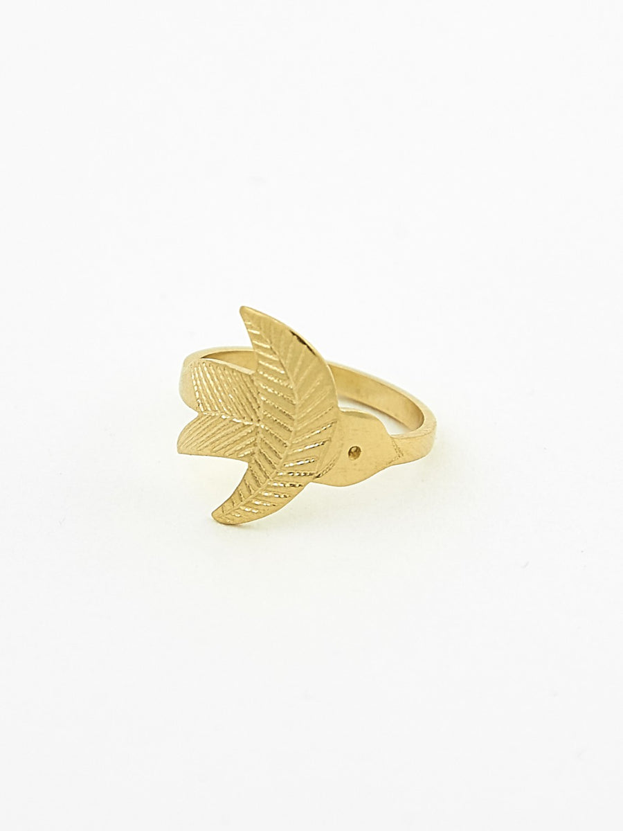 Vermeil swallow ring