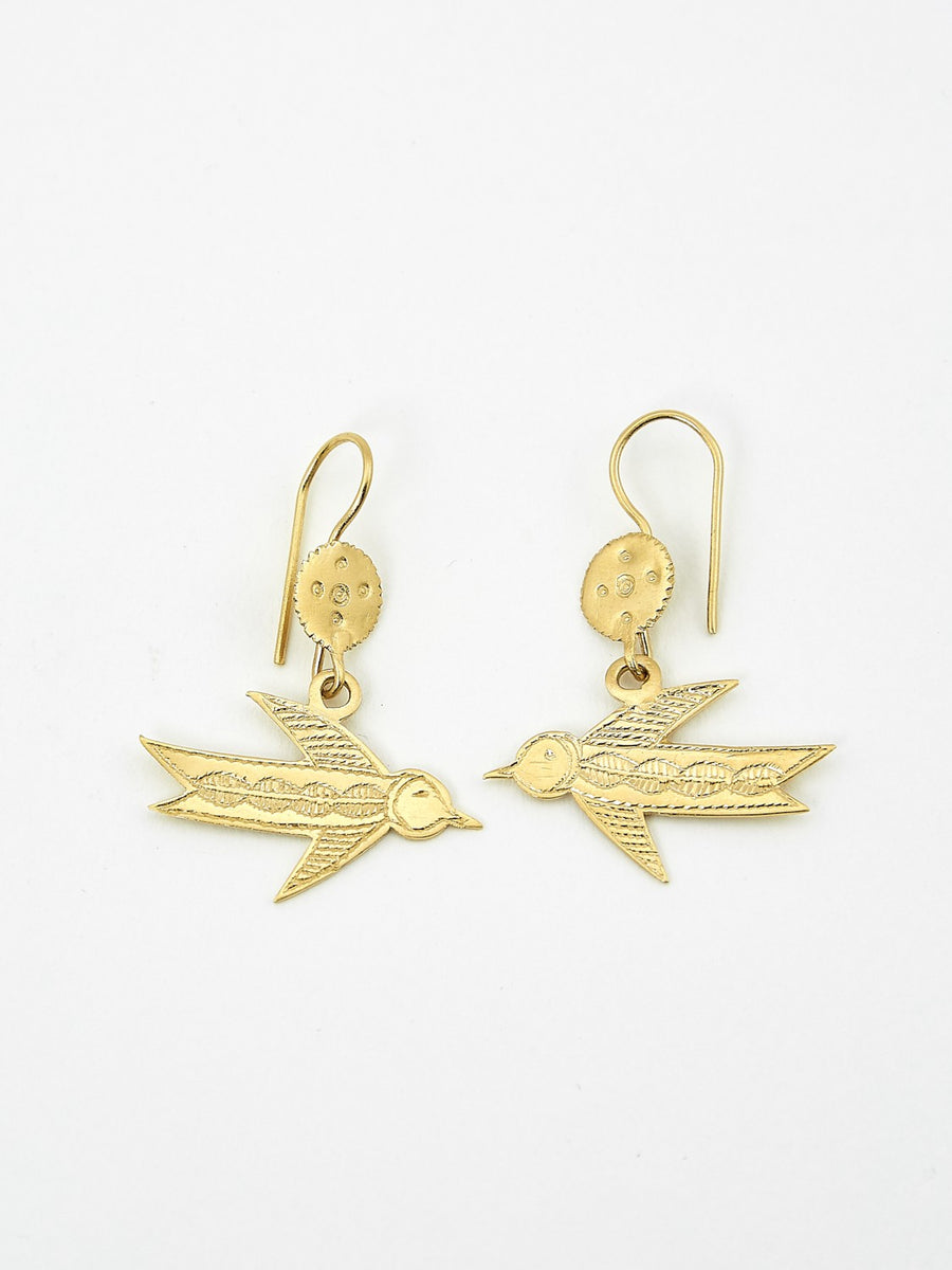 Hirondelles vermeil earrings