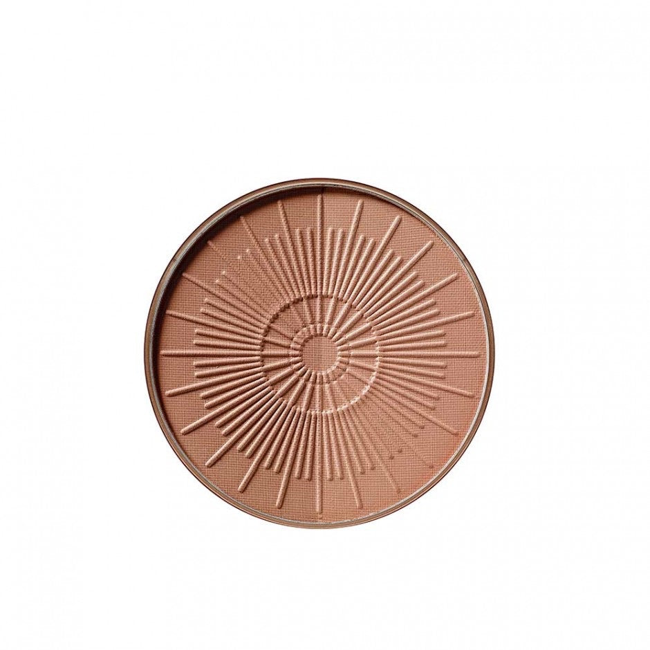 ArtDeco Bronzing powder compact long lasting - refill. The ultra-light, two-colour bronzing powder compact conjures up a natural holiday complexion that looks as if it has been kissed by the sun.