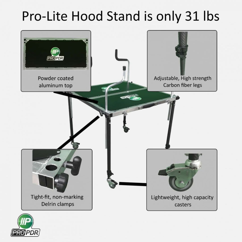 "PRO-LITE TABLE TOP HOOD STAND with 3/8"" Rubber Padded Top"