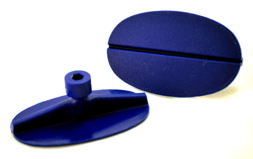 LAKA Large Oval Blue Dent Puller Glue Tabs
