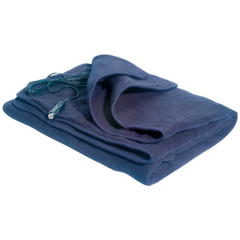 MAXSA Innovations 20013 Comfy Cruise 12-Volt Heated Travel Blanket (Navy)