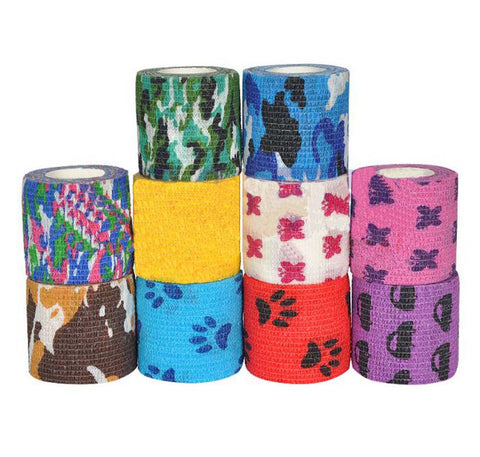Set Of 2 Medical Self-adhesive Fixed First Aid Printing Bandage-Jungle