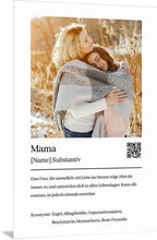 Lade das Bild in den Galerie-Viewer, Personalisiertes Mama Mutter Definition Acrylglas Foto Download zum ausdrucken