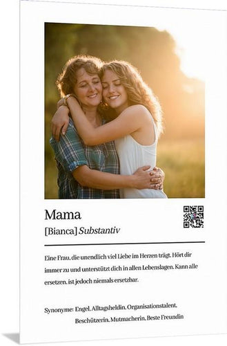 Personalisiertes Mama Mutter Definition Acrylglas Foto Download zum ausdrucken