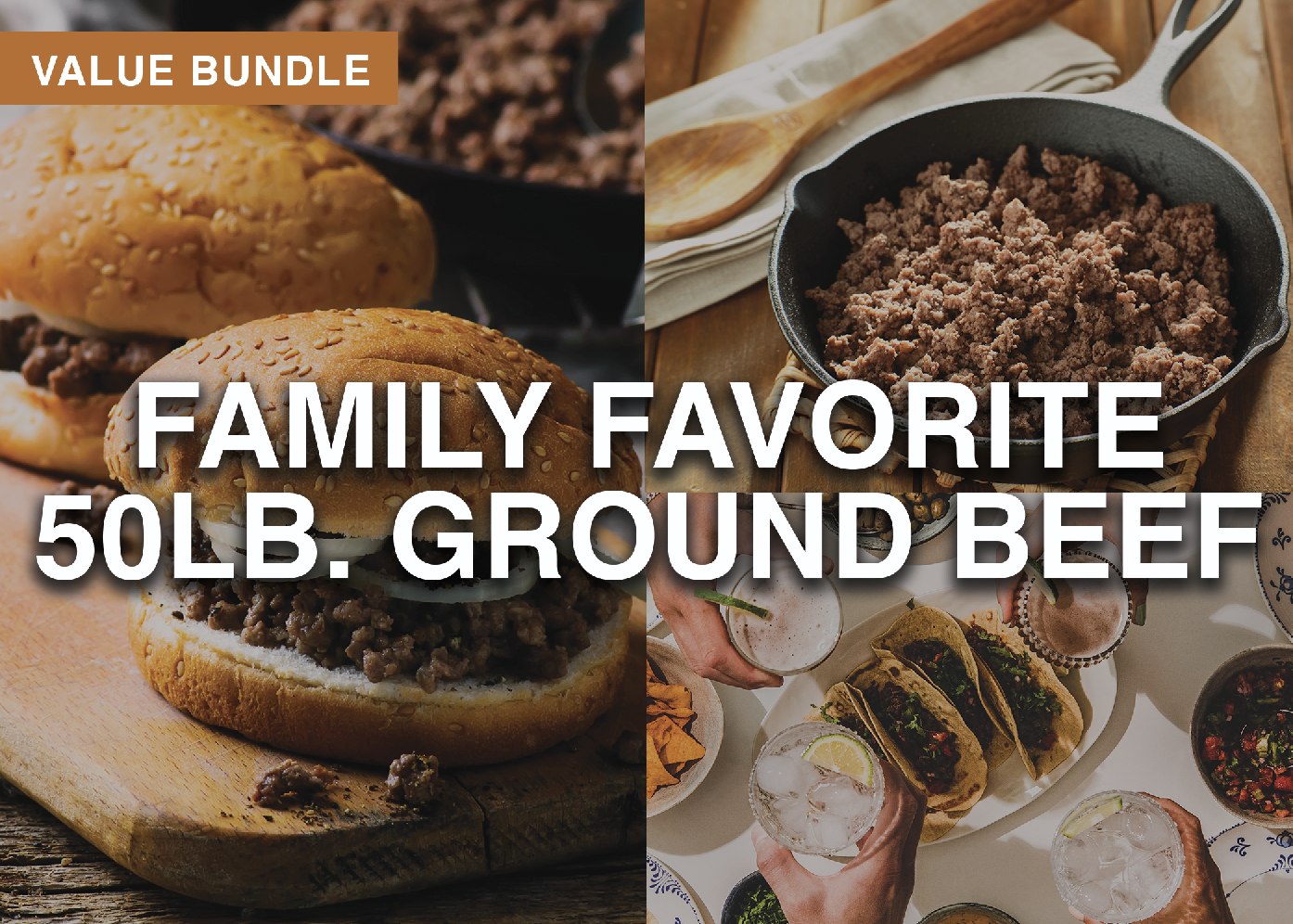 Family Favorite 50lb Ground Beef Bundle