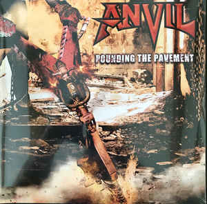 Anvil ‎– Pounding The Pavement  2 × Vinyle, LP, Album, Blanc / Noir Marbré + CD, Album