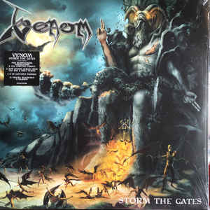Venom  ‎– Storm The Gates  2 × Vinyle, LP, Album, Argent
