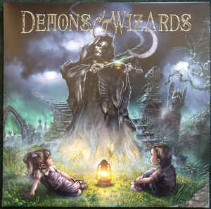 Demons & Wizards ‎– Demons & Wizards  Vinyle Double, LP, + simple face, gravé