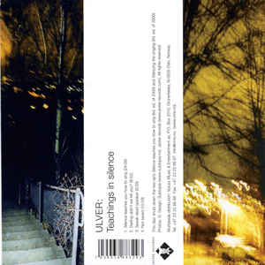 Ulver ‎– Teachings In Silence  CD, Compilation