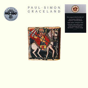 Paul Simon ‎– Graceland  Vinyle, LP, Album, Réédition, Remasterisé, 180 g