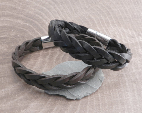 Thick Leather Bracelets