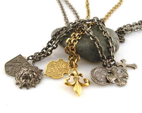 Men's Thin Chains with Pendants