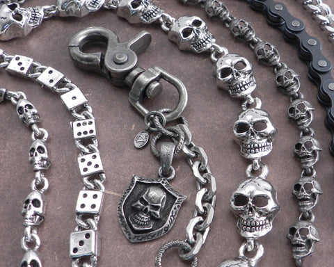 Skulls Wallet Chains