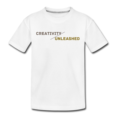 Creativity Unleashed Kids Shirt - white