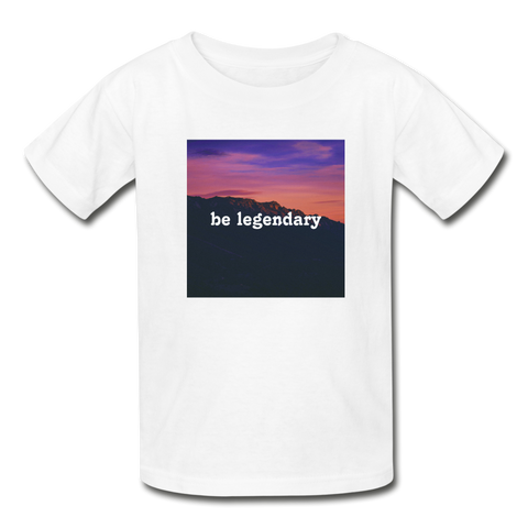 Be Legendary Kids T-Shirt - white