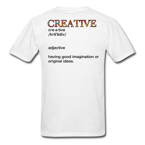 Creative T-Shirt - white