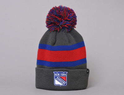 Beanie Bobble 47 Breakaway Cuff Knit New York Rangers Charcoal Beanie 47 Bobble Beanie / Black / One Size
