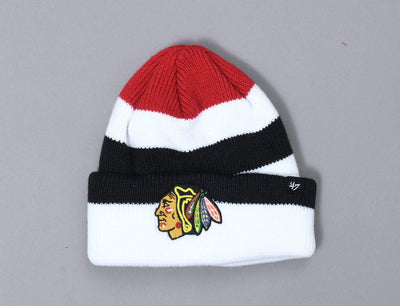 Beanie Cuff 47 Short Side Cuff Knit Chicago Blackhawks 47 Cuff Beanie / Red / One Size