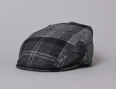 Cap Adjustable Barbour Moons Tweed Cap Black / Grey tartan Barbour