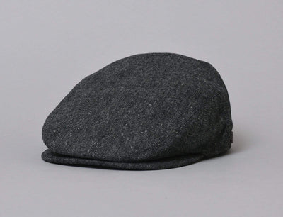 Cap Sixpence Barbour Barlow Flat Cap Dark Grey Barbour