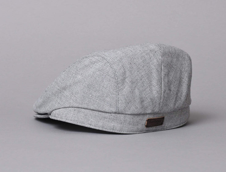Cap Sixpence Barbour Hetton Flat Cap Light Grey Barbour