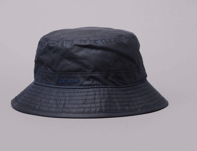 Barbour Waxed Bucket Hat Navy/Seaweed