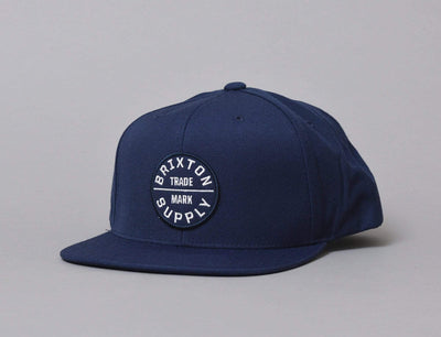Brixton Oath III Snapback Washed Navy/White