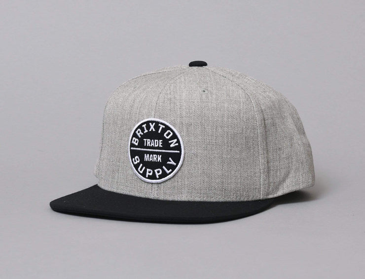 Brixton Oath III Snapback Heather Grey/Black
