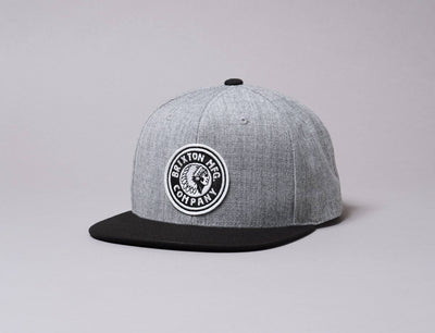 Cap Snapback Brixton Rival MP Snapback Heather Grey/Black Brixton Snapback Cap / Grey / One Size
