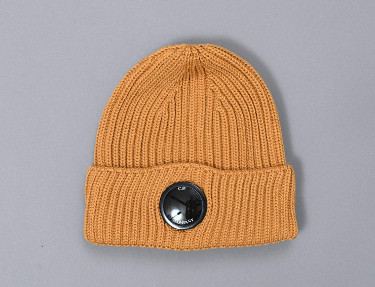 C.P. Company Lens Beanie Golden Yellow