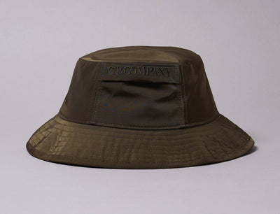 Hat Bucket C.P. Company Bucket Hat Ivy Green Chrome Garment Dyed C.P. Company