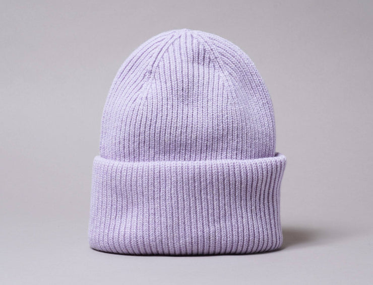 Beanie Cuff Merino Wool Hat Soft Lavender Colorful Standard Cuff Beanie / Purple / One Size