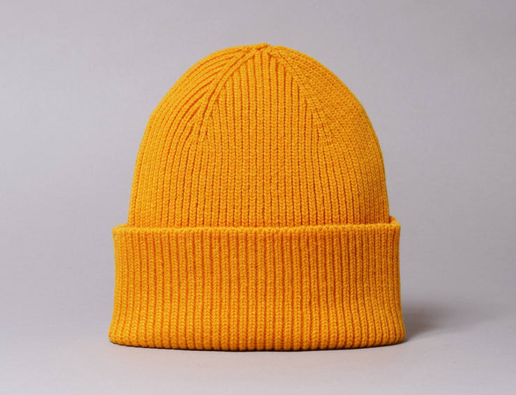 Beanie Cuff Merino Wool Beanie Burned Yellow Colorful Standard Cuff Beanie / Yellow / One Size
