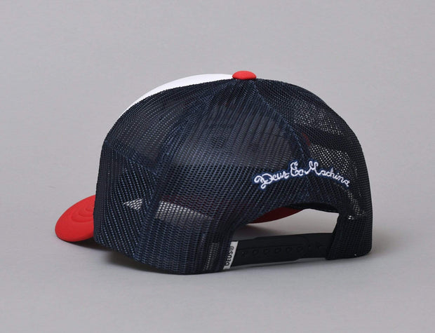 Deus Pill Trucker Red Navy