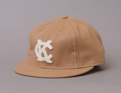 Cap Adjustable Ebbets BallCap Short Visor Kansas City Monarks 1942 Ebbets Field Flannels Adjustable Cap Cap / Beige / One Size