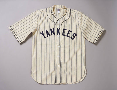 Clothing Baseball Jersey Ebbets Authentic Wool Flannel/Baseball Jersey - New York Black Yankees 1935 Home Jersey Ebbets Field Flannels