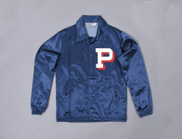 Ebbets Vintage Satin Jacket Portland Beavers Pacific Coast League Navy