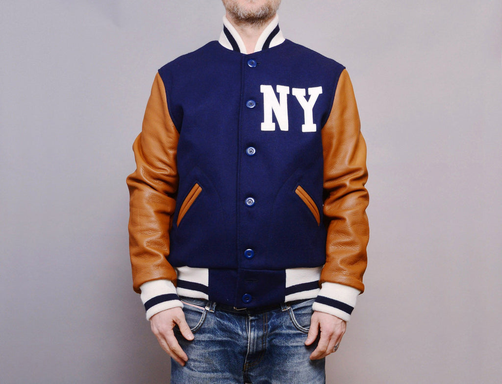 Ebbets Wool/Leather Authentic Jacket - New York Black Yankees 1940, Negro National League