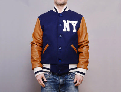 Clothing Jacket Ebbets Wool/Leather Authentic Jacket - New York Black Yankees 1940, Negro National League Ebbets Field Flannels