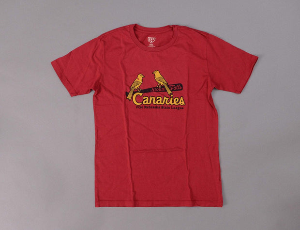 Ebbets Tee Sioux Falls Canaries Red