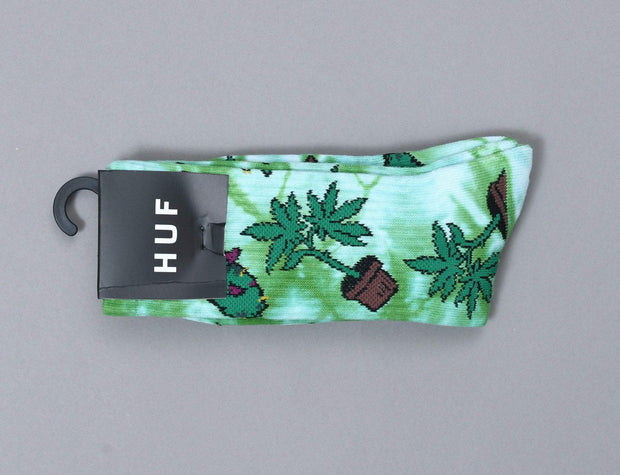 HUF Bud Crew Sock Green