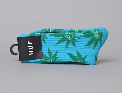 HUF Green Buddy Crew Sock Aqua