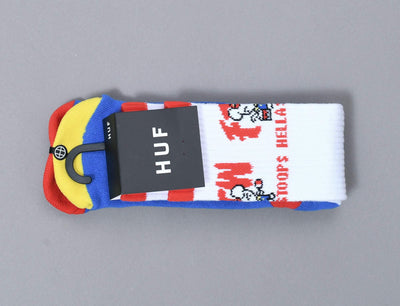 Accessories Socks Huf FTW Stoops Crew Sock Huf Socks / White / One Size