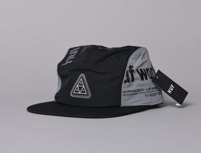 Cap 5-Panel HUF POCKET VOLLEY Black Huf 5-Panel Cap / Black / One Size