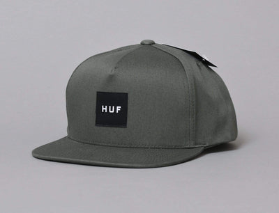 Essentials Box Snapback Hat Army