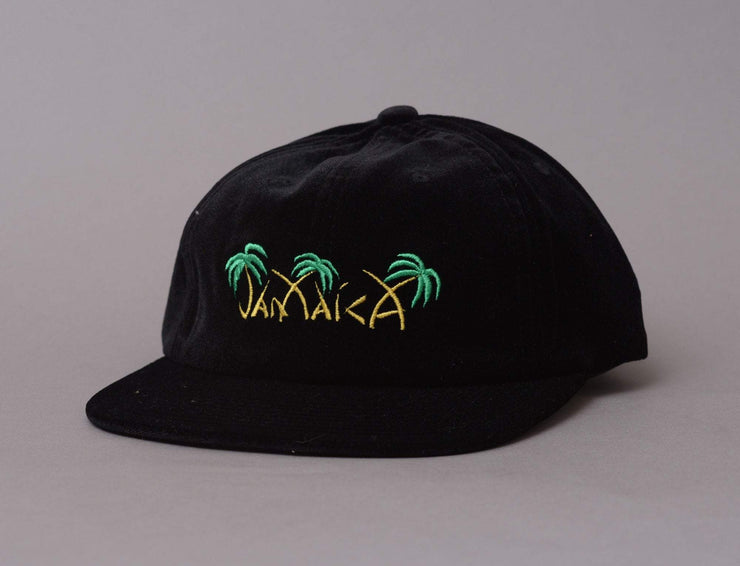 HUF Jamaica 6 Panel Cap Black