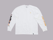 HUF X Pulp Fiction Collage L/S Tee White